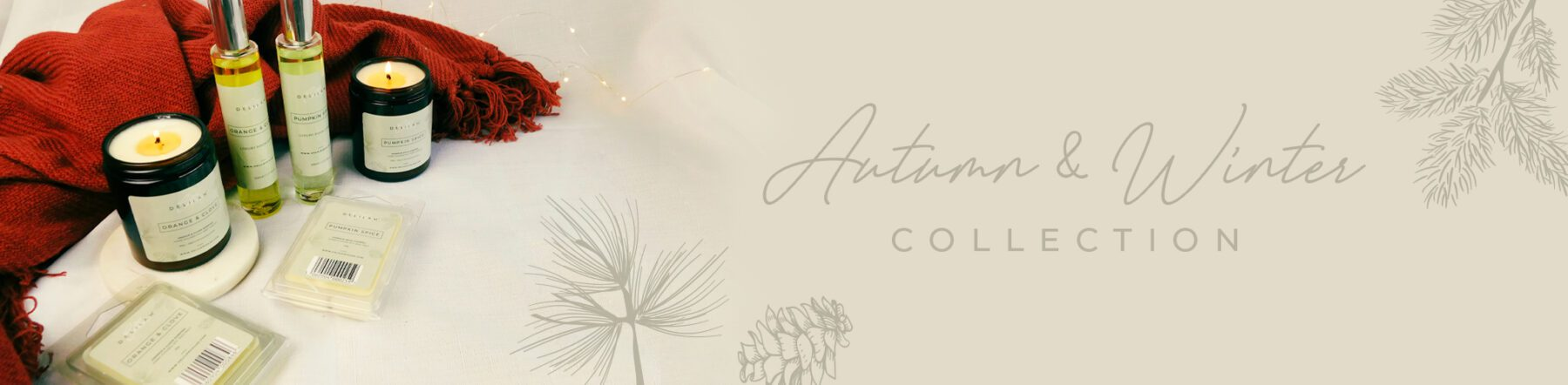 Autumn & Winter Collection by Delilah Chloe, Luxury Home Fragrance, Christmas Candles, Soy Wax Melts